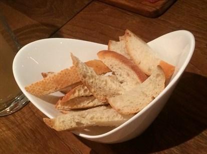 Serving of warm bread.
